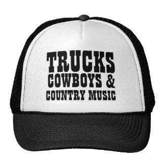 Vaqueros y música country de los camiones gorros bordados