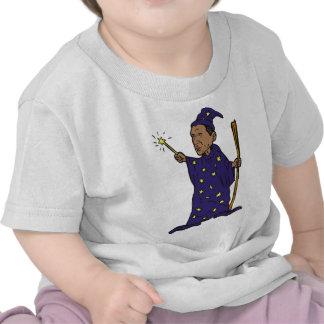 Vara americana del mago de presidente Barack Obama Camisetas