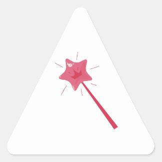 Vara de hadas calcomania de triangulo personalizadas