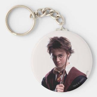 Vara de Harry Potter aumentada Llavero Redondo Tipo Pin