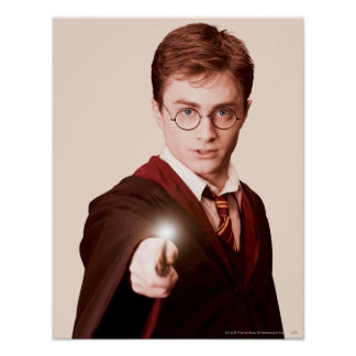 Vara de los puntos de Harry Potter Póster