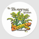 Vara de oro del estado del Bluegrass de Kentucky Pegatina Redonda