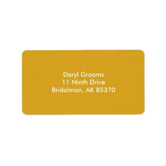 Vara de oro etiquetas de dirección