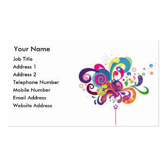 Vara mágica del color tarjetas de visita