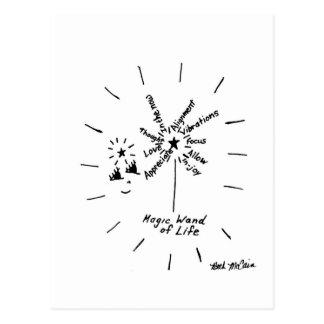 """Vara mágica postal de la vida"""