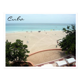 varadero beach view postcard