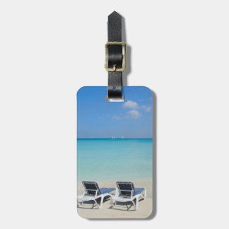 Varadero, Cuba. Sand And Beach Chairs Bag Tag