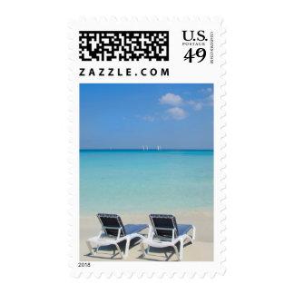 Varadero, Cuba. Sand And Beach Chairs Postage