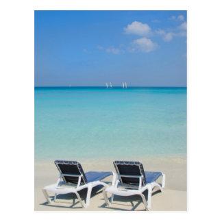 Varadero, Cuba. Sand And Beach Chairs Postcard
