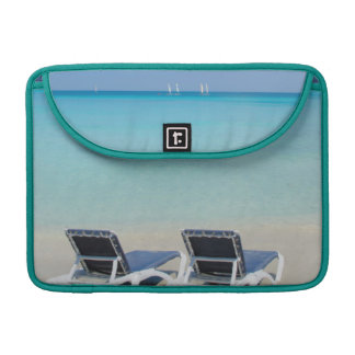 Varadero, Cuba. Sand And Beach Chairs Sleeve For MacBooks