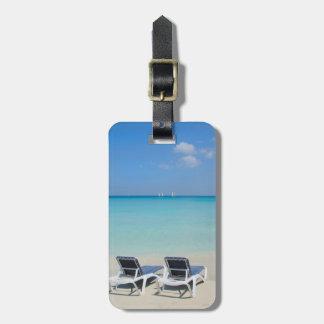 Varadero, Cuba. Sillas de la arena y de playa Etiqueta De Equipaje
