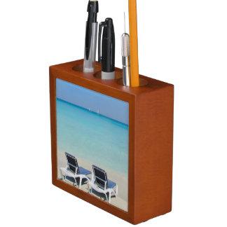 Varadero, Cuba. Sillas de la arena y de playa Organizador De Escritorio