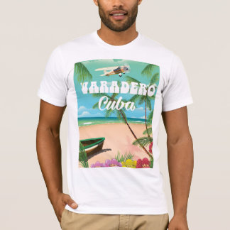 Varadero Cuban beach vacation poster T-Shirt