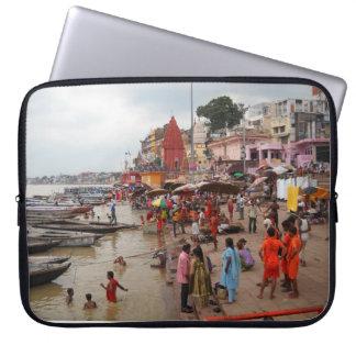 Varanasi Bath Scene Laptop Computer Sleeve