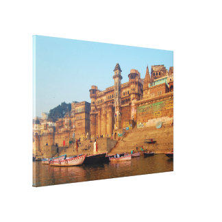 Varanasi India As Seen From Ganga River Canvas Print