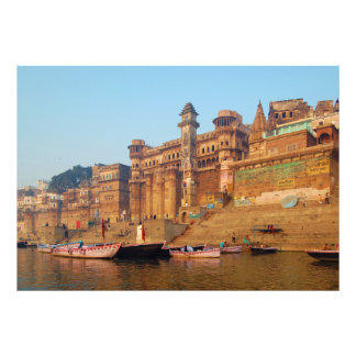 Varanasi India As Seen From Ganga River Photographic Print