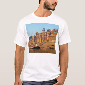 Varanasi India As Seen From Ganga River T-Shirt