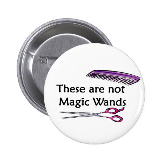 Varas no mágicas pin redondo de 2 pulgadas