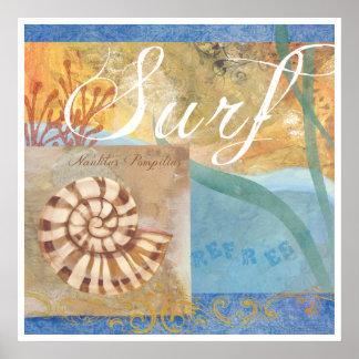 """Vare el poster 1, """"resaca con el nautilus Shell """""""