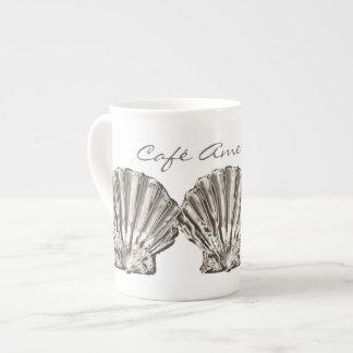"""Vare """"la cáscara blanca marrón de Americain del Taza De Porcelana"""