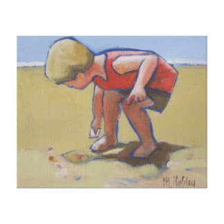 Vare la cáscara del findng del muchacho del niño e lona estirada galerías
