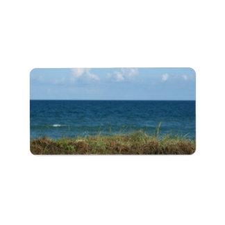 Vare la duna con agua azul y el cielo, la Florida Etiqueta De Dirección