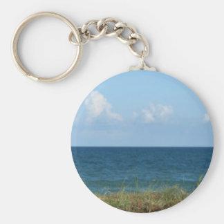 Vare la duna con agua azul y el cielo, la Florida Llavero Personalizado