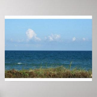 Vare la duna con agua azul y el cielo, la Florida Poster