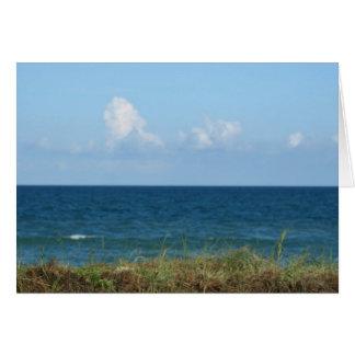 Vare la duna con agua azul y el cielo, la Florida Felicitacion