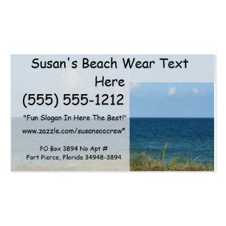 Vare la duna con agua azul y el cielo la Florida Tarjetas De Visita