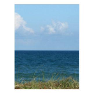 Vare la duna con agua azul y el cielo, la Florida Tarjetas Postales