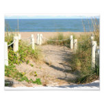 Vare la duna del paseo roped de color de la playa  fotografías