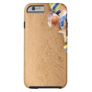 Vare la frontera de la esquina con la toalla, funda resistente iPhone 6