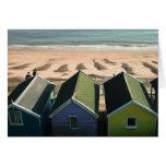 Vare las chozas y la foto inglesa de la playa de l tarjetón