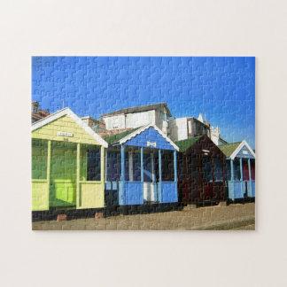 vare las chozas y la foto inglesa de la playa del puzzle