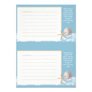 Vare las tarjetas románticas de la receta dos azul