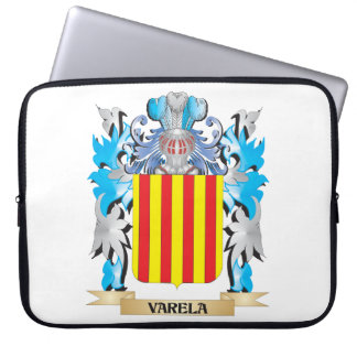 Varela Coat of Arms - Family Crest Laptop Sleeves