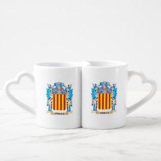 Varela Coat of Arms - Family Crest Couples' Coffee Mug Set
