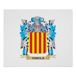 Varela Coat of Arms - Family Crest Poster