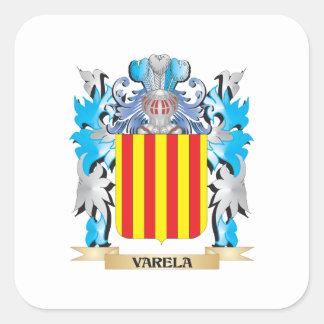 Varela Coat of Arms - Family Crest Square Sticker