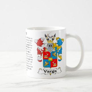 Varga Family Hungarian Coat of Arm mug