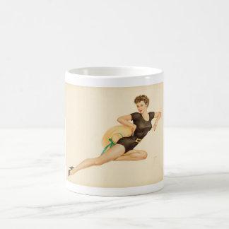 Vargas Girls Two of Clubs playing card  Pin Up Art Coffee Mug