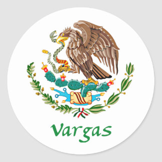 Vargas Mexican National Seal Classic Round Sticker