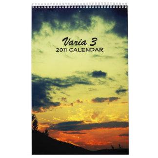 Varia 3 - 2011 Calendar