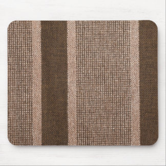 Variable colors of brown strings and light brown f mouse pad