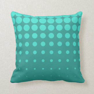 Variable Turquoise Dots Throw Pillow