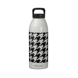 Variación original de Houndstooth en blanco Botellas De Agua Reutilizables