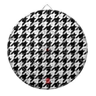 Variación original de Houndstooth en blanco Tablero De Dardos