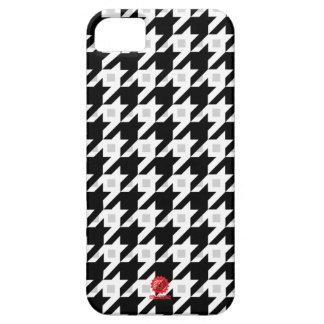 Variación original de Houndstooth en blanco iPhone 5 Case-Mate Funda