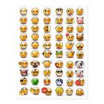Variaciones de un emoticon sonriente de la cara tarjeta postal